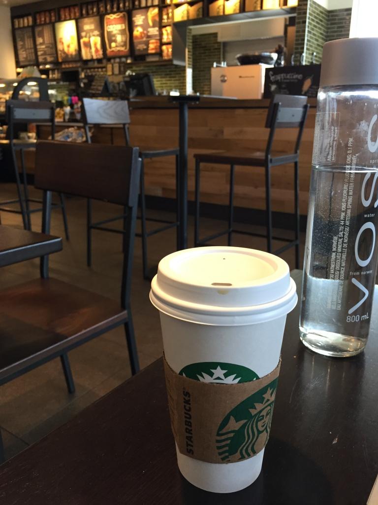 Starbucks order: americano.