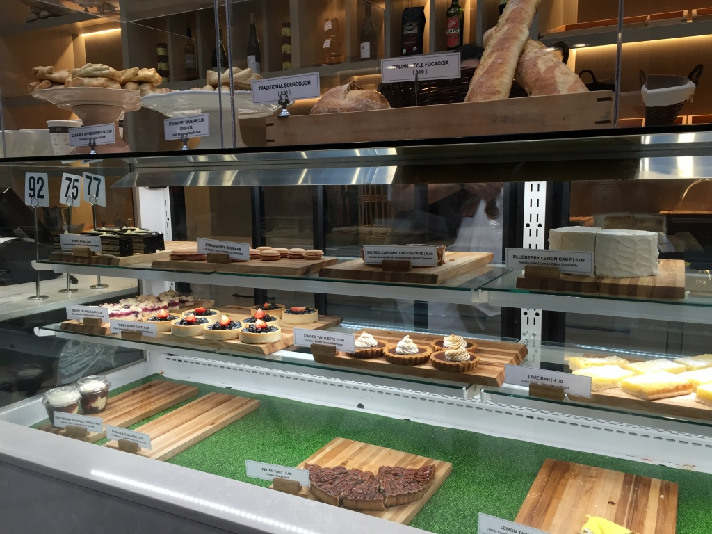 Dessert display.