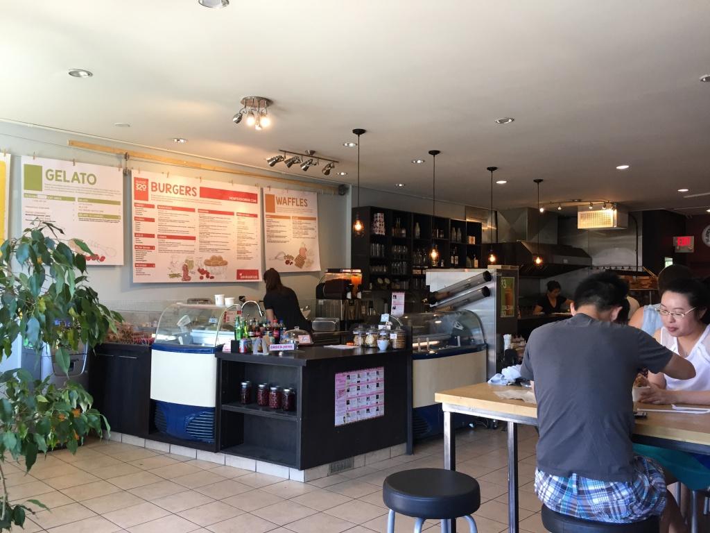 Front counter at Burger 320.