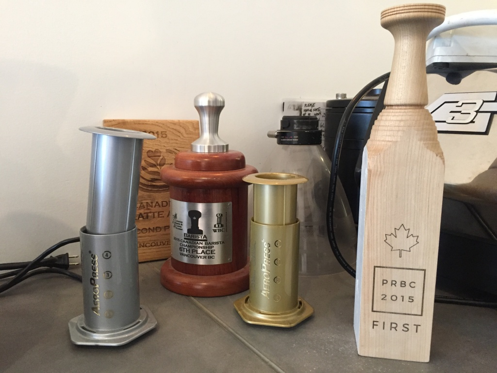 Awards won by Monogram Coffee baristas.