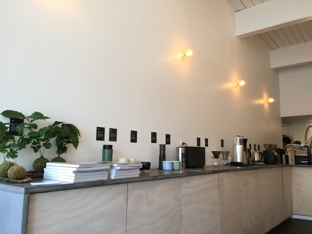 Minimalist hipster cafe,