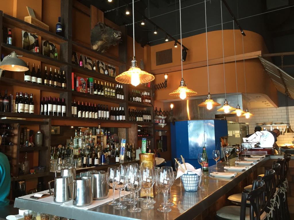 Bar counter at Posto Pizzeria.