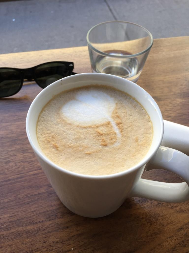 Soy latte.
