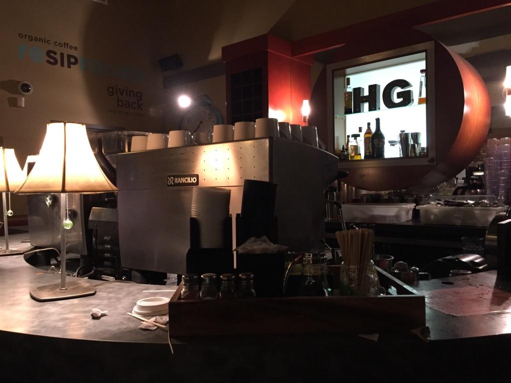 Coffee bar at Higher Ground.