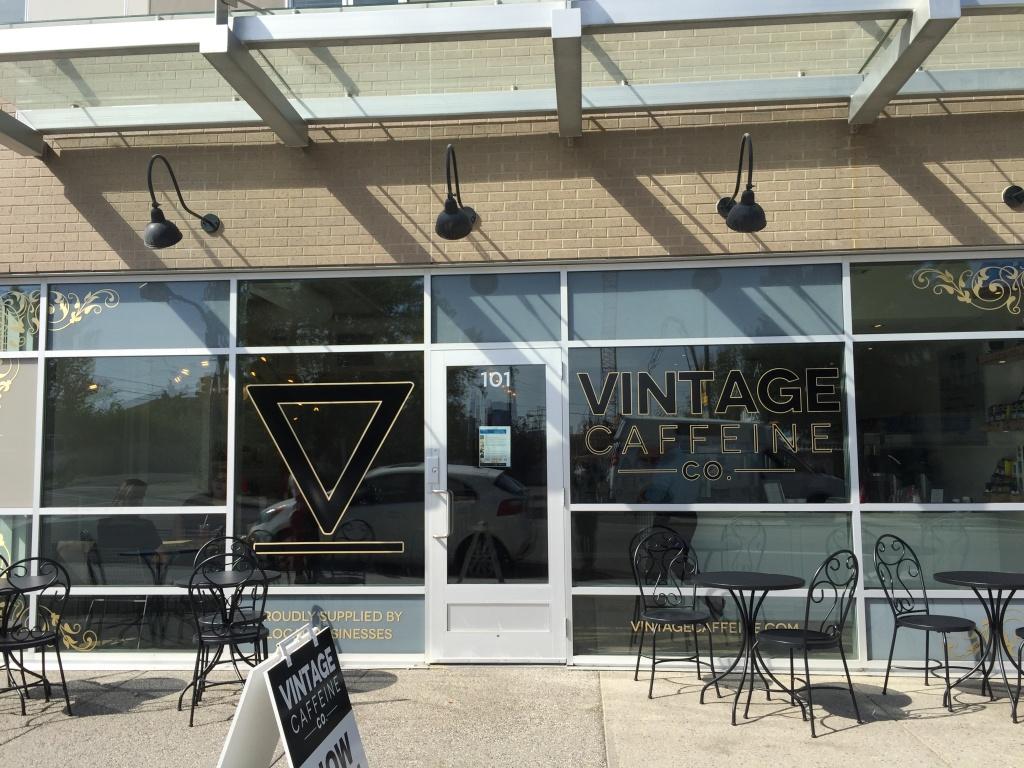 Vintage Caffeine Co. cafe front.