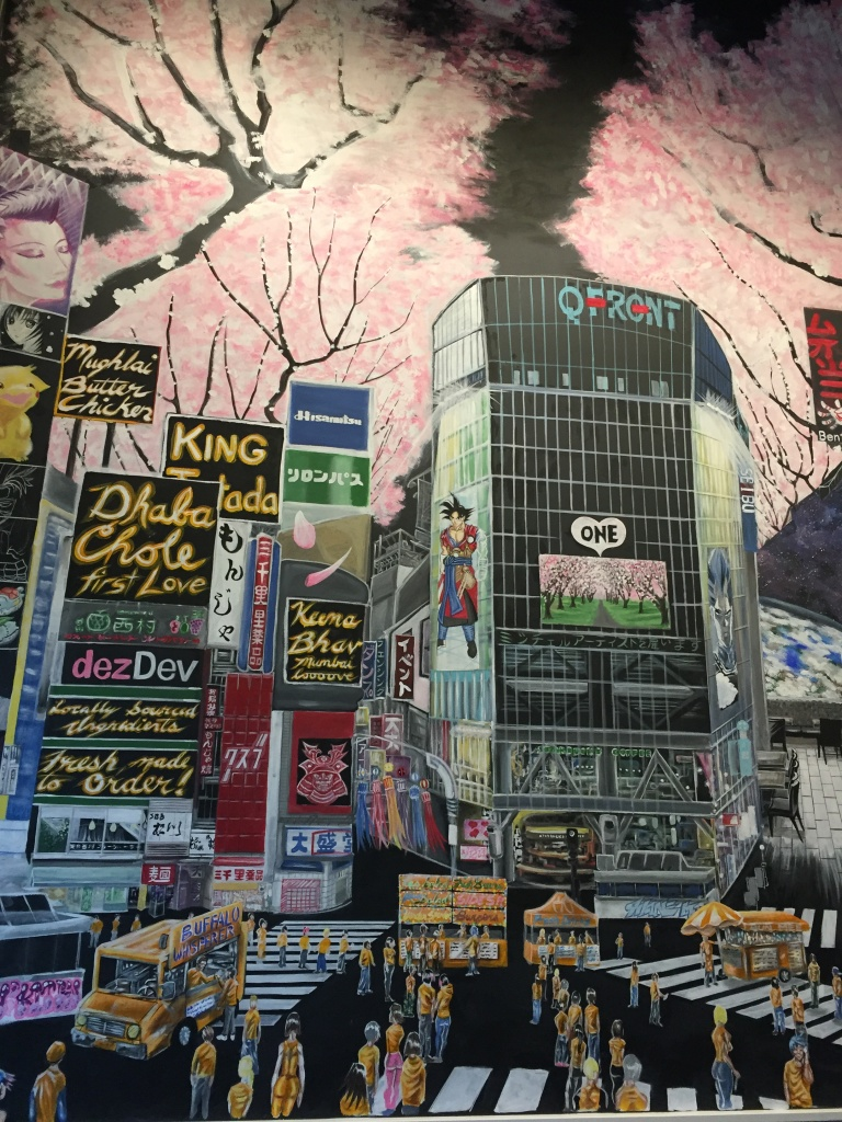 A wall mural at The Street Eatery