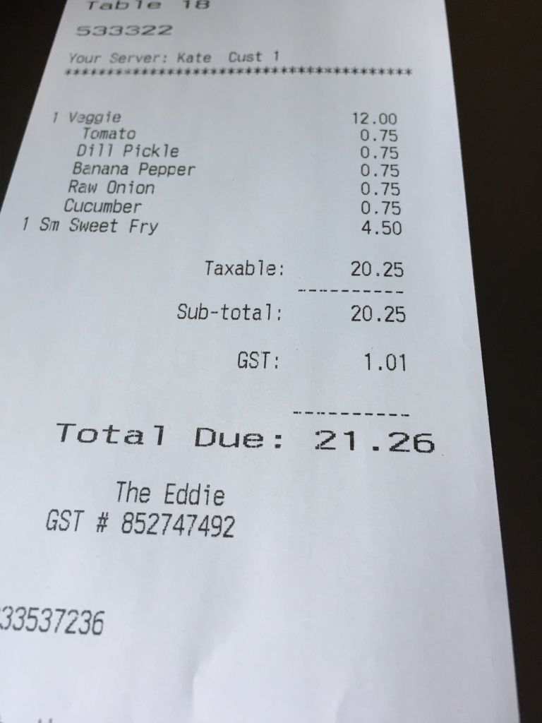 Total was close to $22. Omg who charges for veggies??