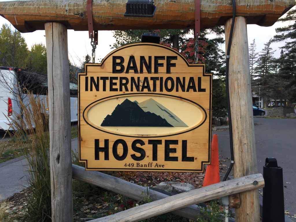 Banff International Hostel. Cheap but you get what you pay for...