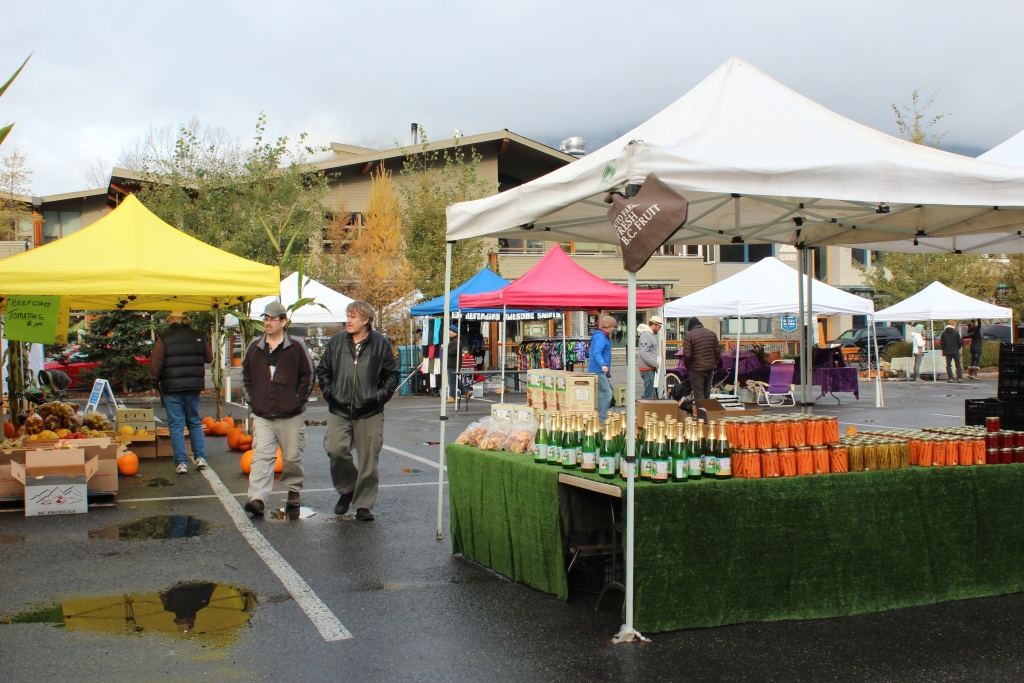 Harvest market or farmers' market in Banff.
