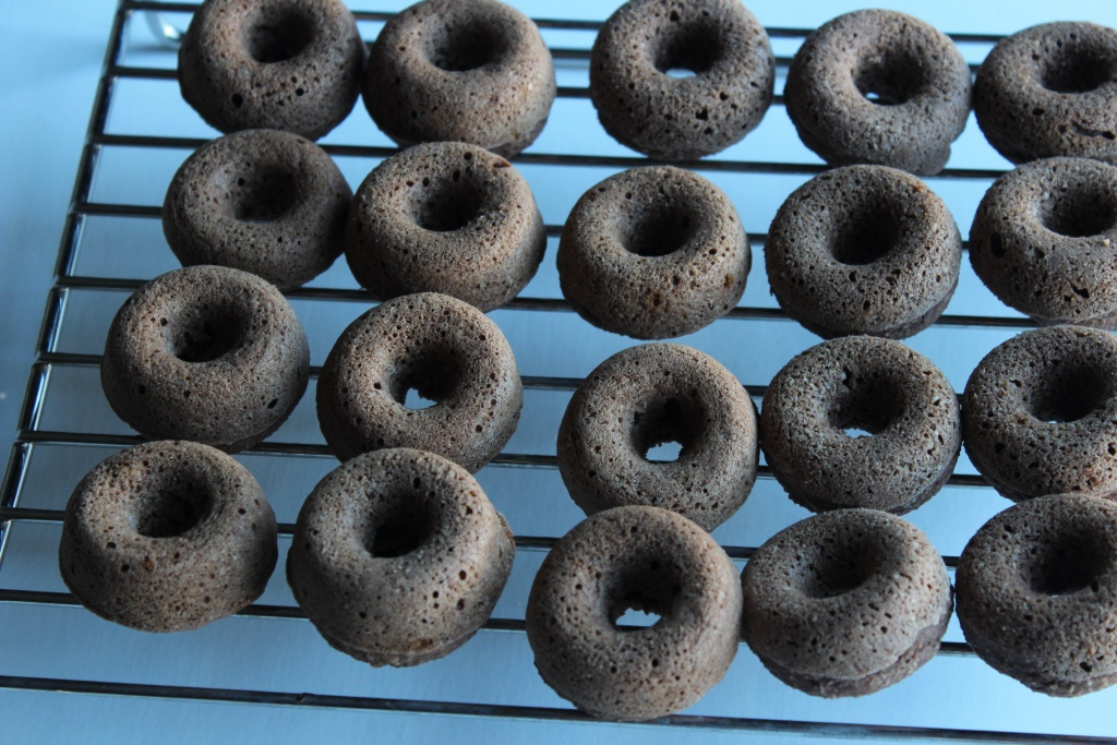 Mini doughnuts fresh out the oven!