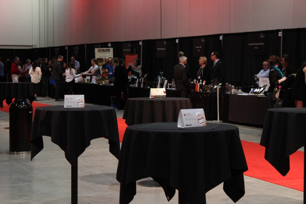 Cocktail tables and so many wineries! I love Winefest!!