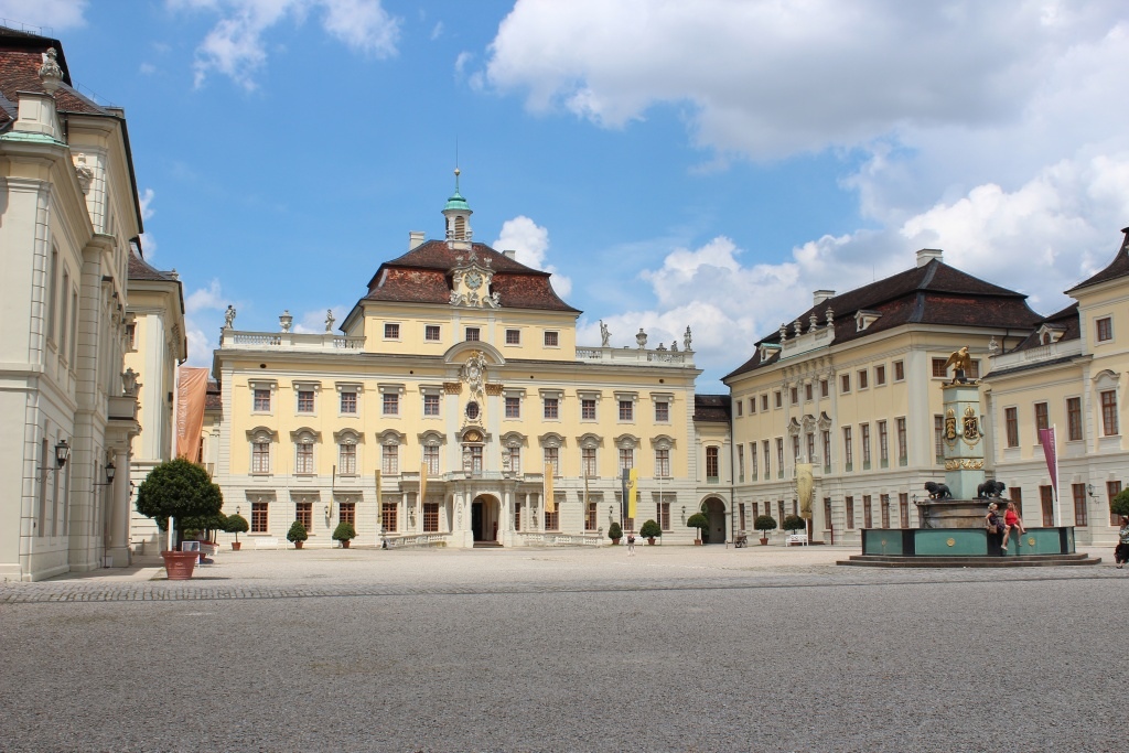 Inner courtyard of Ludwigsburg Castle.